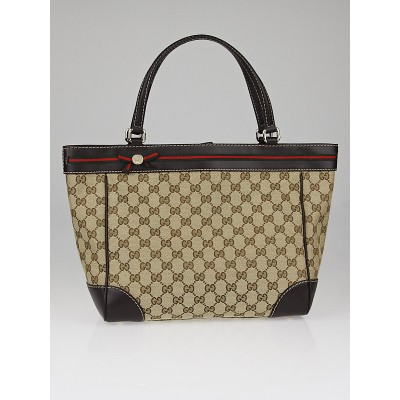 Gucci Beige/Ebony GG Canvas Mayfair Tote Bag