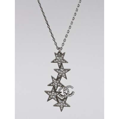 Chanel Swarovski Crystal Star CC Pendant Necklace
