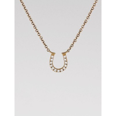 Tiffany & Co. 18k Rose Gold and Diamond Metro Horseshoe Pendant
