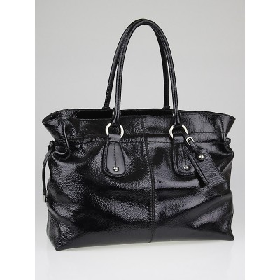 Tod's Black Patent Leather Restyling Large D-Bag