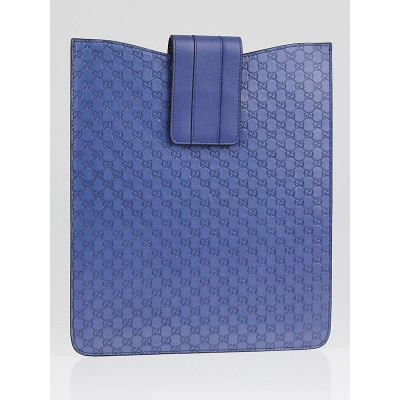 Gucci Blue Micro Guccissima Leather Tablet Cover