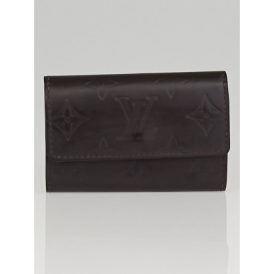 Louis Vuitton Black Monogram Mat Multicles 6 Key Holder