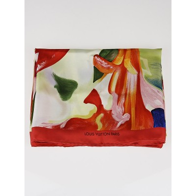Louis Vuitton Limited Edition James Rosenquist Silk Scarf