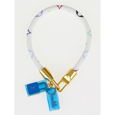 Louis Vuitton White Monogram Multicolore Luck It Bracelet