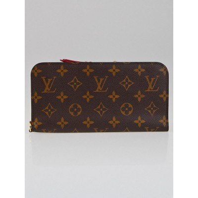 Louis Vuitton Monogram Canvas Rouge Insolite Wallet