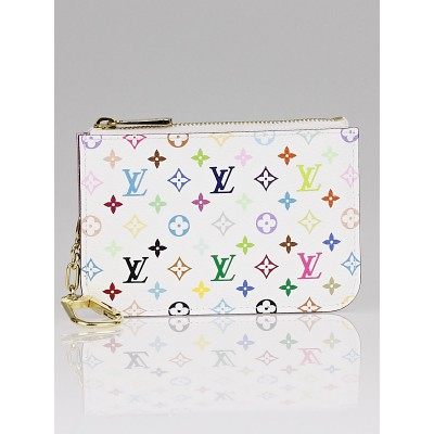 Louis Vuitton White Monogram Multicolore Pochette Cles NM Key Holder