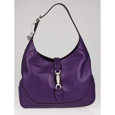 Gucci Purple Leather New Jackie Medium Shoulder Bag