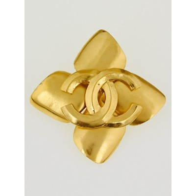 Chanel Goldtone Metal CC Brooch