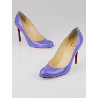 Christian Louboutin Lavender Patent Leather Simple 100 Pumps Size 7/37.5