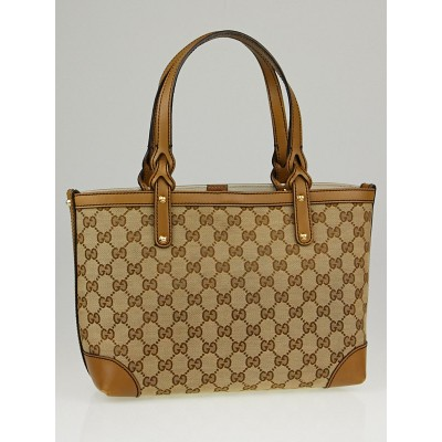 Gucci Beige/Taupe GG Canvas Medium Craft Tote Bag