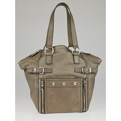 Yves Saint Laurent Grey Leather Small Downtown Bag