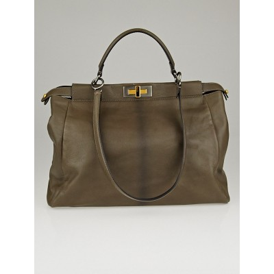 Fendi Grey Goatskin Ombre Leather Large Peekaboo Bag