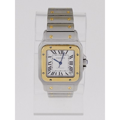 Cartier Stainless Steel and 18k Gold Santos Galbee XL Automatic Watch