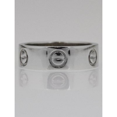 Cartier Platinum LOVE Ring Size 5.25/50