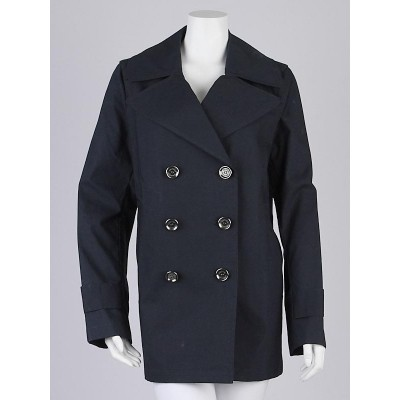 Burberry Brit Ink Cotton 'Collybrooke' Trench Coat Size 6