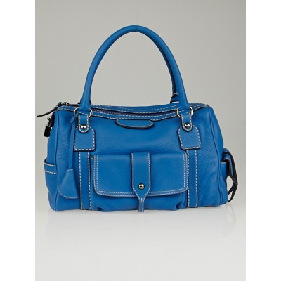 Tod's Blue Pebbled Leather New Besonville Small Bag