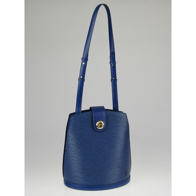 Louis Vuitton Toledo Blue Epi Leather Cluny Bucket Bag