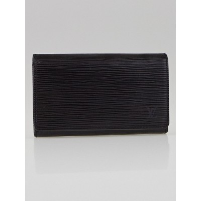 Louis Vuitton Black Epi Leather Tresor Wallet