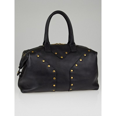 Yves Saint Laurent Black Leather Rock Stud Large Easy Y Bag