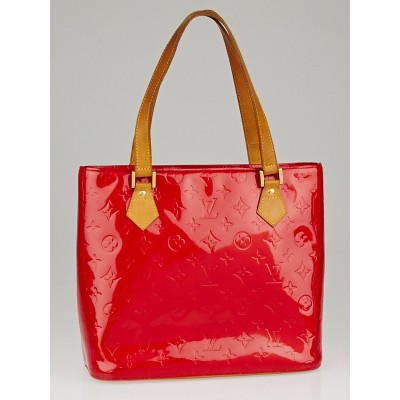 Louis Vuitton Red Monogram Vernis Houston Bag
