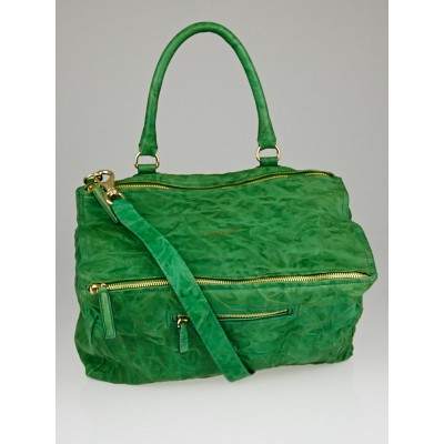 Givenchy Vert Emeraude Wrinkled Sheep Leather Large Pandora Bag