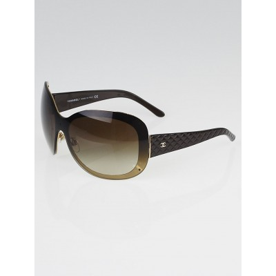 Chanel Brow/Gold Oversized Frame Gradient Tint Sunglasses-4159