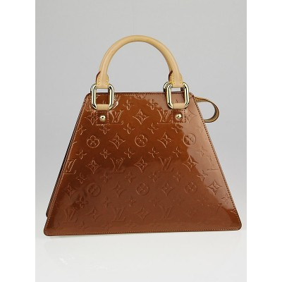 Louis Vuitton Bronze Monogram Vernis Forsyth GM Bag