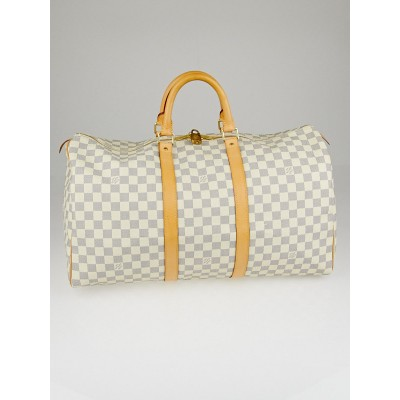Louis Vuitton Damier Azur Canvas Keepall 50 Bag