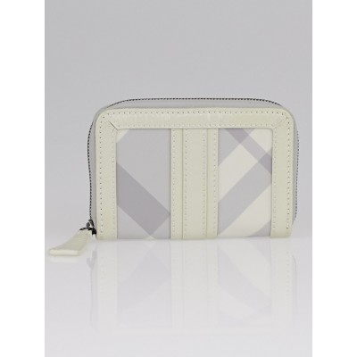 Burberry Pale Trench Nylon Beat Check Zippy Coin Case Wallet