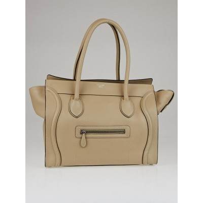 Celine Dune Drummed Calfskin Leather Shoulder Luggage Tote Bag