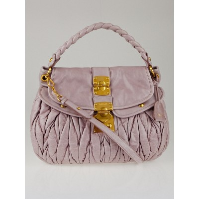 Miu Miu Mughetto Matelasse Lux Leather Coffer Bag