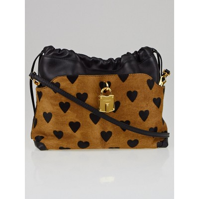Burberry Leopard-Print Calf Hair Little Crush Convertible Clutch Bag