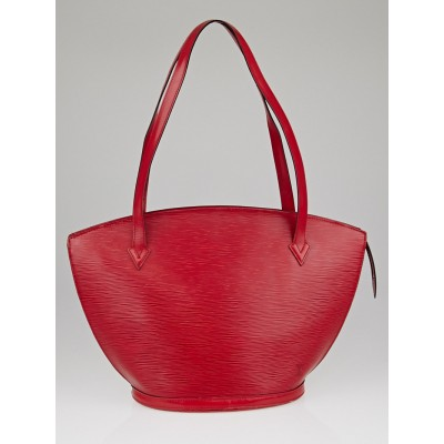 Louis Vuitton Red Epi Leather Saint Jacques GM Bag
