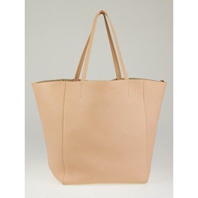 Celine Light Blush Calfskin Leather Medium Phantom Tote Bag