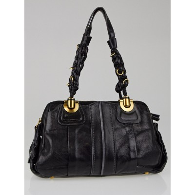 Chloe Black Leather Small Heloise Shoulder Bag