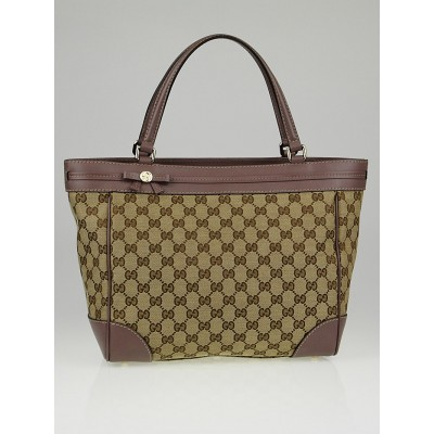 Gucci Beige/Purple GG Canvas Mayfair Tote Bag