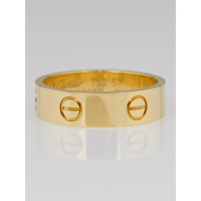 Cartier 18k Yellow Gold LOVE Ring Size 8/57
