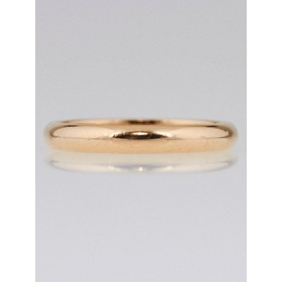 Cartier 18k Pink Gold Wedding Band Size 4.75/49