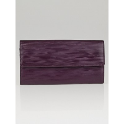Louis Vuitton Cassis Epi Leather Sarah Wallet