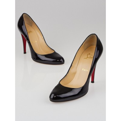 Christian Louboutin Black Patent Leather Decollete 868 100 Pumps Size 9.5/40