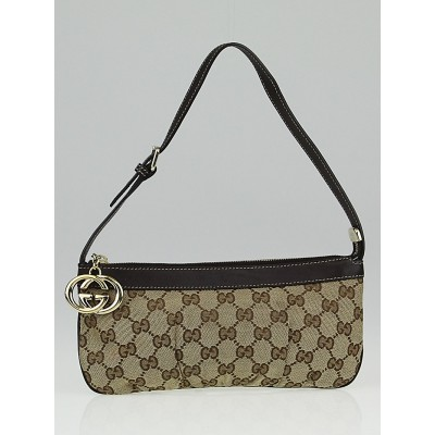 Gucci Beige/Ebony GG Canvas Interlocking G Pochette Bag