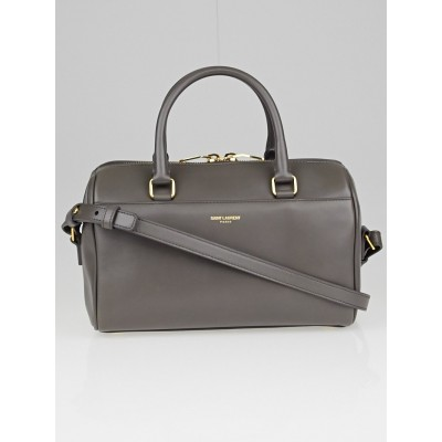 Saint Laurent Grey Calfskin Leather Classic Baby Duffle Bag