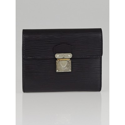 Louis Vuitton Black Epi Leather Koala Wallet