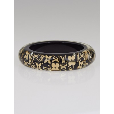 Louis Vuitton Black Monogram Inclusion GM Bracelet