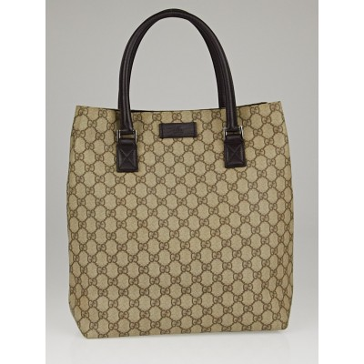 Gucci Beige/Ebony GG Coated Canvas Small Tote Bag