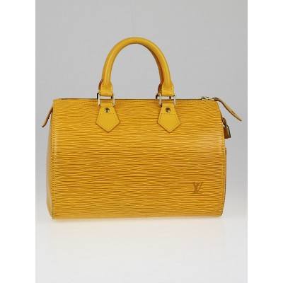 Louis Vuitton Tassil Yellow Epi Leather Speedy 25 Bag