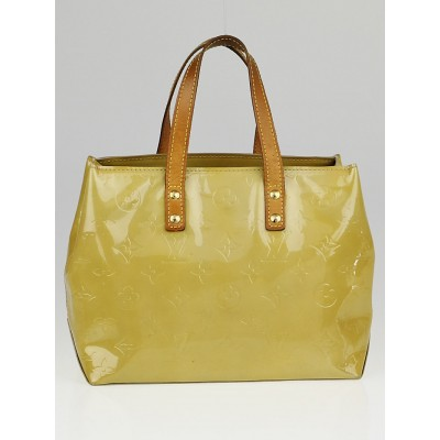 Louis Vuitton Lime Yellow Monogram Vernis Reade PM Bag