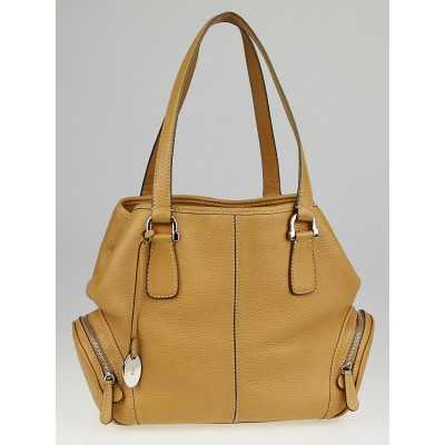 Tod's Beige Leather Charlotte Tote Bag