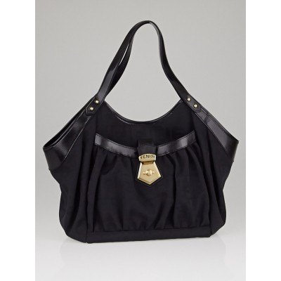 Fendi Black Zucca Canvas Borsa Chef Tote Bag