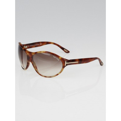 Tom Ford Tortoise Shell Wrap Frame Liya Sunglasses-TF16